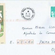 Sellos: 2000. FRANCIA/FRANCE. SOBRE PREFRANQUEADO. JEAN DE LA FONTAINE. ESCRITOR/WRITER. FÁBULAS/FABLES.. Lote 209739021