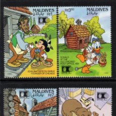 Timbres: MALDIVAS 1471/74** - AÑO 1992 - PERSONAJES DE DISNEY - WORLD COLUMBIAN STAMP EXPO. Lote 210328236