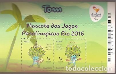 BRASIL ** & TOM, MASCOTA DE LOS JUEGOS PARALÍMPICOS, JUEGOS OLÍMPICOS DE RÍO 2016 (3442) (Sellos - Temáticas - Infantil)
