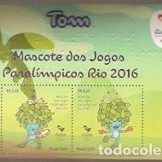 Sellos: BRASIL ** & TOM, MASCOTA DE LOS JUEGOS PARALÍMPICOS, JUEGOS OLÍMPICOS DE RÍO 2016 (3442). Lote 210406603