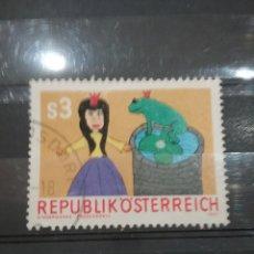 Sellos: SELLOS AUSTRIA (OSTERREICH) MTDOS/1981/NIÑOS/CUENTOS/ANIMALES/SAPO/RANA/FAUNA/INFANCIA/PRINCESA/JU/. Lote 211390810