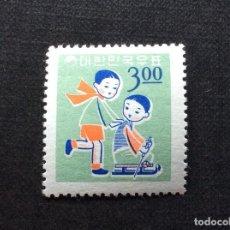 Francobolli: COREA DEL SUR Nº YVERT 398** AÑO 1965. NAVIDAD. JUEGO INFANTIL. SELLO SUELTO CON CHARNELA. Lote 214584607