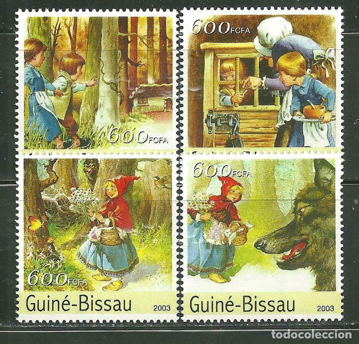 GUINEA BISSAU 2003 IVERT 1150/3 *** LITERATURA - LOS CUENTOS DE GRIMM - INFANTIL - CAPERUCITA ROJA (Sellos - Temáticas - Infantil)