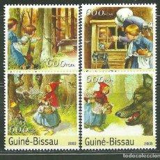 Sellos: GUINEA BISSAU 2003 IVERT 1150/3 *** LITERATURA - LOS CUENTOS DE GRIMM - INFANTIL - CAPERUCITA ROJA. Lote 214841126