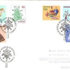 Sellos: SUECIA .1978. FDC. YT 1027/1032 NAVIDAD. JUGUETES.. Lote 216474195
