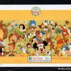 Sellos: TANZANIA HB 137** - AÑO 1991 - PERSONAJES DE DISNEY - CARTA DE NAVIDAD. Lote 288230223