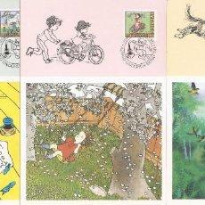 Sellos: SUECIA..1987. TARJETAS MÁXIMAS . ILUSTRACIONES LIBROS PARA NIÑOS.. Lote 218615076