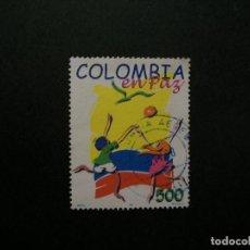 Sellos: /24.10/-COLOMBIA-1997-500 P. Y&T 1074 SERIE COMPLETA EN USADO/º/. Lote 222160418