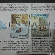 Sellos: HB DE SRI LANKA NUEVA/1989/EUROPA/CEPT/JUEGOS/INFANCIA/JUBENTUD/TRINEO/NIÑOS/RULETA/ESQUI/. Lote 222600076