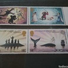 Sellos: SELLOS DE BAILIA JERSEY NUEVOS/1981/LEYENDAS/CUENTOS/INFANCIA/DTAGON/BARCO/VELERO/EUROPA/CEPT/ARMA/P. Lote 222876737