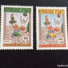 Sellos: HAITI Nº YVERT 646+ A 426***. AÑO 1969. JUEGOS INFANTILES. Lote 224259618