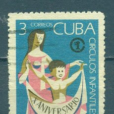 Sellos: 1684 CUBA 1971 U THE 10TH ANNIVERSARY OF THE CUBAN INFANT CENTRES. Lote 226312661
