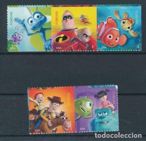 ESTADOS UNIDOS 2012 IVERT 4490/4 *** PELÍCULAS DE LOS ESTUDIOS PIXAR - INFANTIL (Sellos - Temáticas - Infantil)