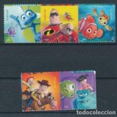 Sellos: ESTADOS UNIDOS 2012 IVERT 4490/4 *** PELÍCULAS DE LOS ESTUDIOS PIXAR - INFANTIL. Lote 230555125