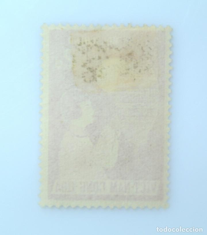Sellos: SELLO POSTAL VIETNAM del SUR 1958, 2 Đ, FESTIVAL INFANTIL, NIÑA CON LAMPARA, USADO - Foto 2 - 234322135