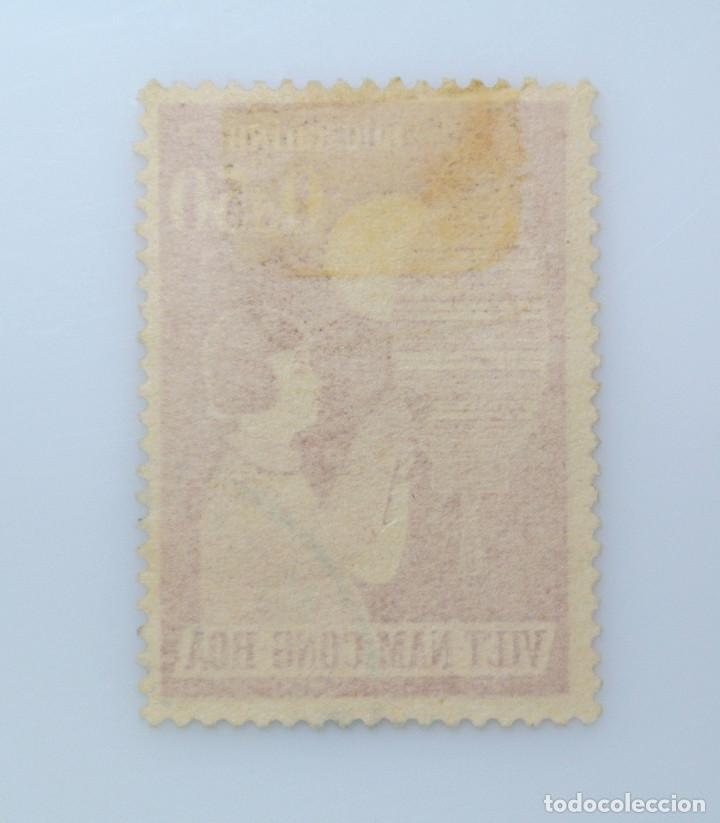 Sellos: SELLO POSTAL VIETNAM del SUR 1958, 0,50 Đ, FESTIVAL INFANTIL, NIÑA CON LAMPARA, USADO - Foto 2 - 234322495