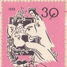 Timbres: 1959 - HUNGRIA - CUENTOS INFANTILES - LA BELLA DURMIENTE - YVERT 1328. Lote 236001760