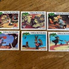 Sellos: 6 SELLOS DISNEY- TURKS & CAICOS ISLANDS- CHISTMAS 1981. Lote 236525585