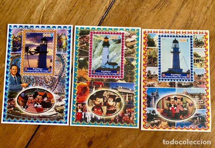 3 SELLOS RÉPUBLIQUE DÉMOCRATIQUE DU CONGO- 2005- DISNEY (Sellos - Temáticas - Infantil)