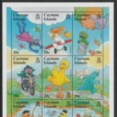 Timbres: SELLOS CAYMAN ISLANDS 2000 BARRIO SESAMO. Lote 236873410