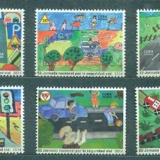 Sellos: CUBA 2015 52 NATIONAL ROAD SAFETY DAY MNH - CARS, STSI, CHILDREN. Lote 241353240