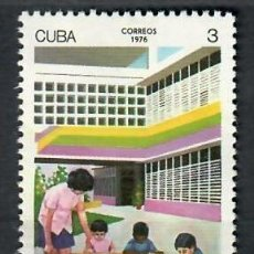 Sellos: CUBA 1976 THE 15TH ANNIVERSARY OF THE INFANT WELFARE CENTRES MNH - CHILDREN, THE ORGANIZATION. Lote 241363675