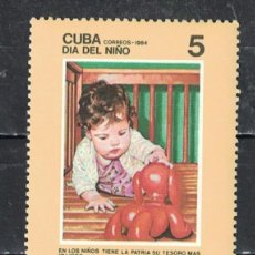 Sellos: 🚩 CUBA 1984 THE DAY FOR CHILDREN MNH - CHILDREN. Lote 241366075
