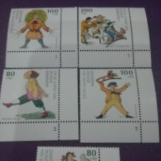 Sellos: SELLO ALEMANIA R. FEDERAL NUEVOS/1994/CENT/MUERTE/MEDICO/HEINRICH/HOFFMAN/DIBUJOS/INFANCIA/PRO/JUVEN. Lote 243469070