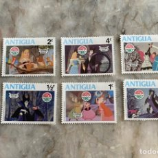 Sellos: 6 SELLOS DISNEY/ ANTIGUA / CHRISTMAS 1980 / BELLA DURMIENTE. Lote 243846645
