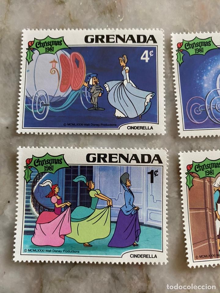 Sellos: 5 sellos Disney / Grenada / Christmas 1981 / Cenicienta - Foto 2 - 243852815