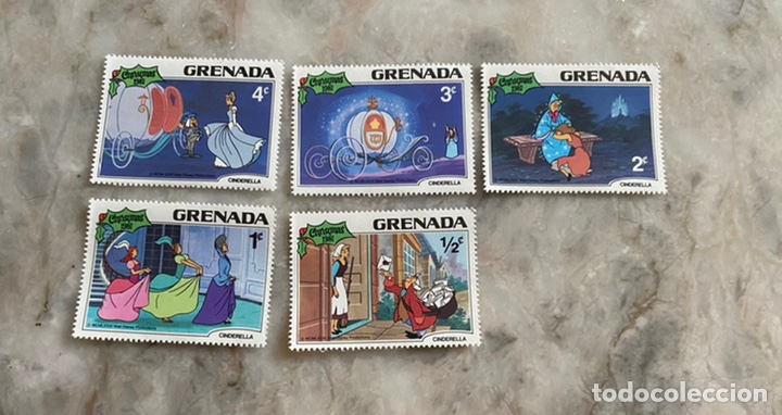 5 SELLOS DISNEY / GRENADA / CHRISTMAS 1981 / CENICIENTA (Sellos - Temáticas - Infantil)