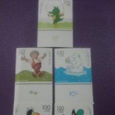 Sellos: SELLOS ALEMANIA R. FEDERAL NUEVOS/1999/PRO/JUVENTUD/COMICS/INFANCIA/OSO/CUERVO/AVE/ERIZO/CUENTOS/ANI. Lote 243899335