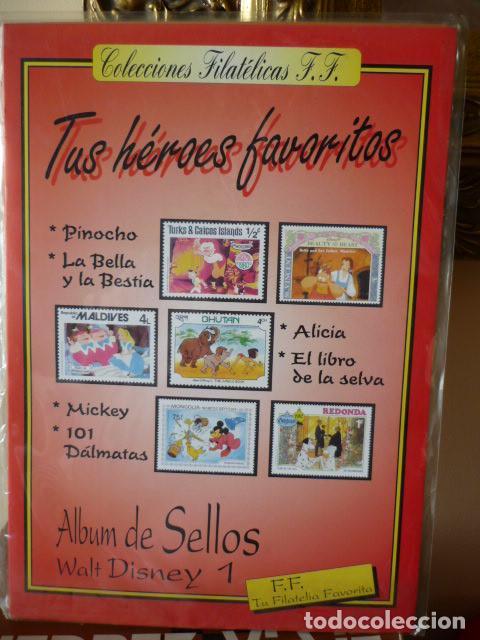 ALBUM DE SELLOS WALT DISNEY Nº 1 - TUS HEROES FAVORITOS, 41 SELLOS -COLECCIONES FILATELICAS F.F. (Sellos - Temáticas - Infantil)