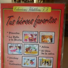 Sellos: ALBUM DE SELLOS WALT DISNEY Nº 1 - TUS HEROES FAVORITOS, 41 SELLOS -COLECCIONES FILATELICAS F.F.. Lote 244397780