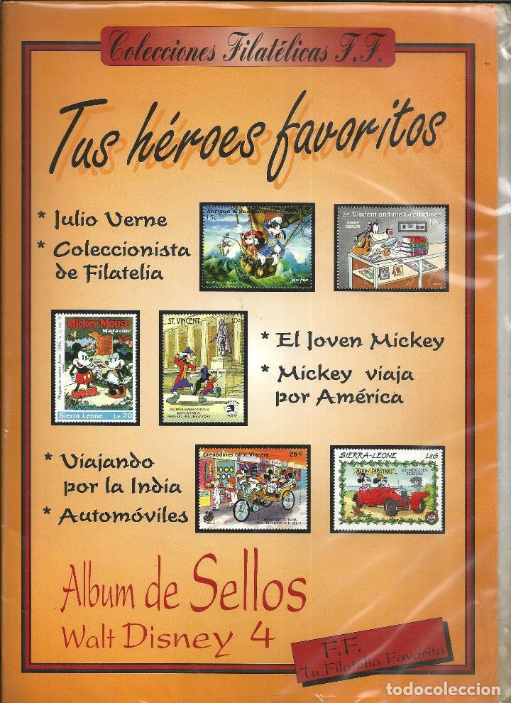 ALBUM DE SELLOS WALT DISNEY Nº 4 - TUS HEROES FAVORITOS, CON 36 SELLOS -COLECCIONES FILATELICAS F.F. (Sellos - Temáticas - Infantil)