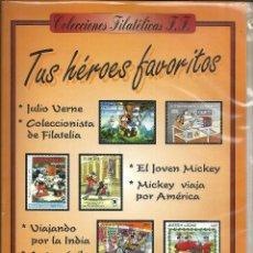 Sellos: ALBUM DE SELLOS WALT DISNEY Nº 4 - TUS HEROES FAVORITOS, CON 36 SELLOS -COLECCIONES FILATELICAS F.F.. Lote 244398540