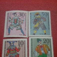 Sellos: SELLOS ALEMANIA, R. FEDERAL NUEVOS/1970/MARIONETAS/INFANCIA/NIÑOS/ARTE/ARLEQUIN/PAYASO/TITERES/JUEGO. Lote 244874385
