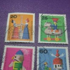 Sellos: SELLO ALEMANIA, R. FEDERAL MTDOS/1971/JUGUETES/INFANCIA/CABALLO/CASCANUECES/MUJERES/PALOMAR/ARTE/ART. Lote 244899065
