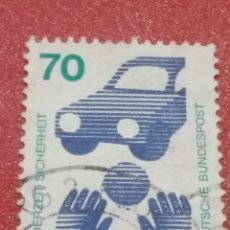 Sellos: SELLO ALEMANIA R. FEDERAL MTDO/1973/PREVENCION/ACCIDENTES/COCHES/BALON/NIÑO/AUTOMOVIL/CARRO/VEHICULO. Lote 245203205