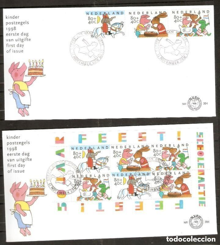 HOLANDA. 1998. FDC . ACCIÓN ESCOLAR. INFANTIL. (Sellos - Temáticas - Infantil)
