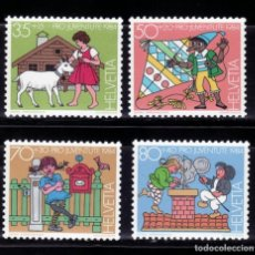Sellos: SELLOS TEMA CUENTOS. SUIZA 1984 PRO-JUVENTUD HEIDI/ PINOCHO / PIPPI / B. Lote 256123925