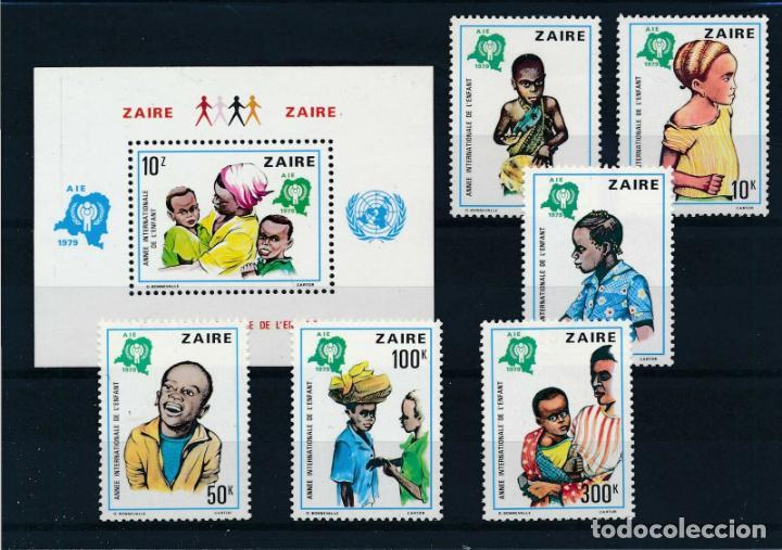 ZAIRE 1979 IVERT 951/6 Y HB 10 *** AÑO INTERNACIONAL DEL NIÑO (Sellos - Temáticas - Infantil)