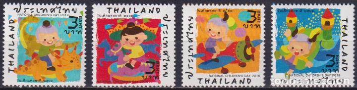 ⚡ DISCOUNT THAILAND 2019 CHILDREN'S DRAWINGS - NATIONAL CHILDREN´S DAY MNH - CHILDREN, PICTU (Sellos - Temáticas - Infantil)