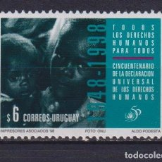 Sellos: ⚡ DISCOUNT URUGUAY 1998 THE 50TH ANNIVERSARY OF THE UNIVERSAL DECLARATION OF HUMAN RIGHTS MNH. Lote 260585415