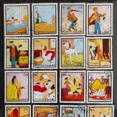 Sellos: FUJEIRA - DISNEY 101 DALMATA- MICHEL 1510/29 - SERIE DE 20 VALORES MATASELLADOS. Lote 261832290