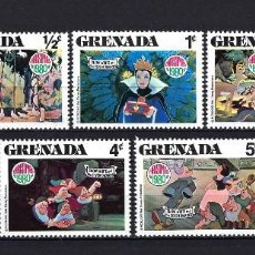 Sellos: 1980 GRENADA YVERT 950/956 WALT DISNEY, BLANCANIEVES MNH** NUEVOS SIN FIJASELLOS. Lote 262301290