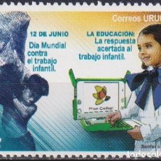 Sellos: ⚡ DISCOUNT URUGUAY 2008 INTERNATIONAL DAY AGAINST CHILD LABOUR MNH - CHILDREN, COMPUTERS. Lote 262871440