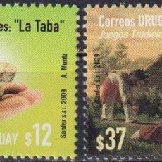Sellos: ⚡ DISCOUNT URUGUAY 2009 AMERICA UPAEP - TRADITIONAL GAMES MNH - TOYS. Lote 262871945