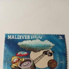Timbres: SELLOS TEMÁTICOS MALDIVES ( ESPACIO ). Lote 264108075