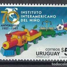 Sellos: ⚡ DISCOUNT URUGUAY 1997 THE 70TH ANNIVERSARY OF THE INTER-AMERICAN INSTITUTE FOR THE CHILD MN. Lote 266257058